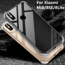 For Xiaomi Mi8 Case Mi8 se mi 8 Lite Case TPU Transparent Silicone Clear Crystal Soft Back cover For xiaomi Mi 8 SE phone case стоимость