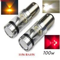 2x Auto 6000K 1156 BA15S P21W 7506 CREE 100W Car LED Backup Reverse Tail Light White