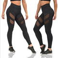 Women's Leggings Fitness Skinny Mesh Patchwork Leggings Plus Size Elastic Waist Pants New Quick Dry Trousers for Women CK04