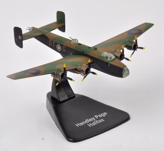 1/144 Escala Diecast Juguetes Modelo de Aviones de Combate Del Ejército Militar WWII Atlas Handley Page Halifax Aviones Modelo Niños Juguetes Colecciones