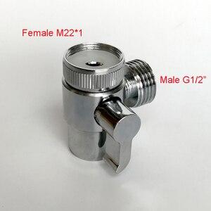 """Хромированный медный аэратор для раковины M22 M24 G1/2 """"отводной адаптер для туалета и биде опрыскиватель для душа стиральная машина соска"""