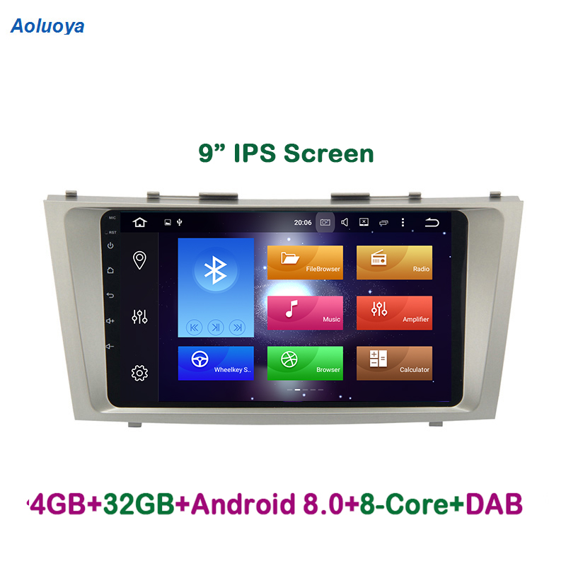 "Aoluoya 9"" IPS 4GB RAM 32G ROM Octa-Core Android 8.0 CAR DVD GPS Player For Toyota Camry 2007 2008 2009 2010 2011 audio radio BT"