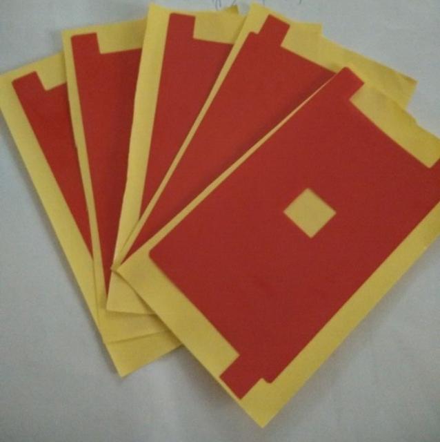 Envío gratis 500 unids/lote nueva luz de fondo roja de la película pegatina para el iphone 6 6g 4.7 Pulgadas Buena Lcd Protector de Pantalla de luz de Fondo Rojo película