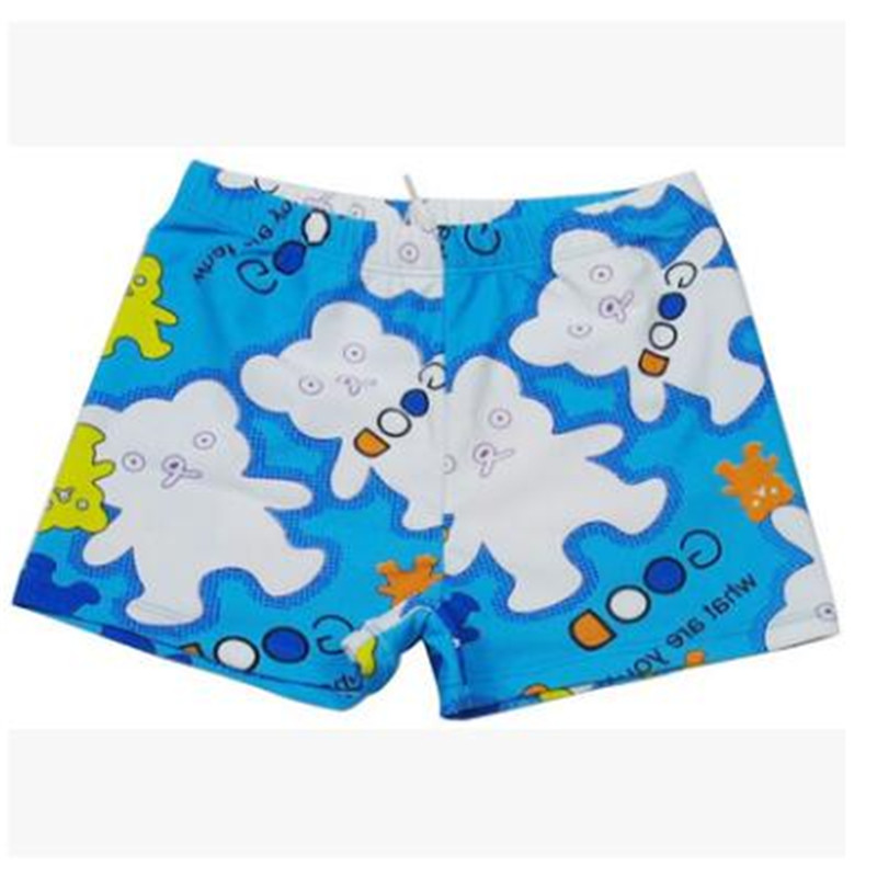 Shorts painted summer swimwear Cute cartoon latest hot spring swimsuits swimming trunks outdoor baby boys beach sunscreen