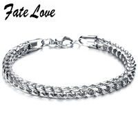 Min Order 10 Personality Men S Stainless Steel Snake Bracelet Wide Length 9 5inch Thickness