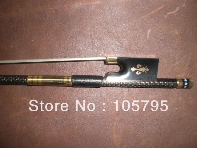 ФОТО 3pcs beautiful Violin carbon fiber bow 4/4 (Gold wire decoration)