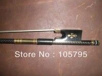 3pcs beautiful Violin carbon fiber bow 4/4 (Gold wire decoration)