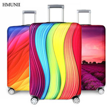 HMUNIIHot fashion Elastic Fabric Luggage Protective Cover Suitable18-32 Inch Trolley Case Suitcase Dust Cover Travel Accessories