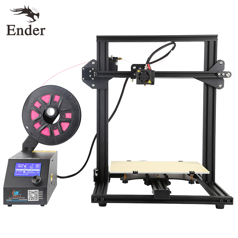 CR-10 Mini 3D printer KIT Prusa i3 Large Printing size 300*220*300mm Printer 3D n 200g Filament+Hotbed+8G SD card Creality 3D easy assemble bapasco x5 3d printer kit high precision reprap prusa i3 diy 3d printing machine hotbed 1kg filament sd card lcd