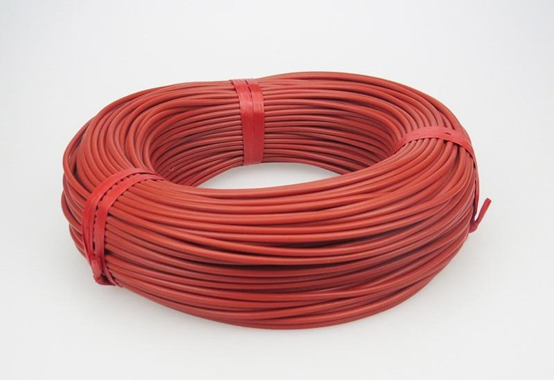 Neue infrarot heizung kabel system 3mm Silikon carbon faser heizung ...