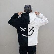 Dropshipping Suppliers Usa Men Hoodies Sweatshirts Smile Print Headwear Hoodie Hip Hop Streetwear Clothing Us size S-XL