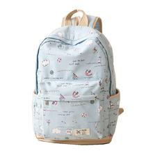 2015 новый горячий мода женская холст рюкзак школы для девочек дамы подростки свободного покроя дорожные сумки школьный Bagpack B1317