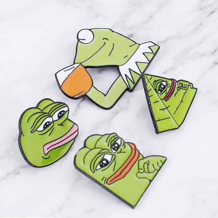 Высокое качество 4 стиля лягушка Pepe Pin Feel Bad Man брошь грустная лягушка нагрудная булавка на ощупь хорошие мужские значки поп культура булавки Лягушка ювелирные изделия