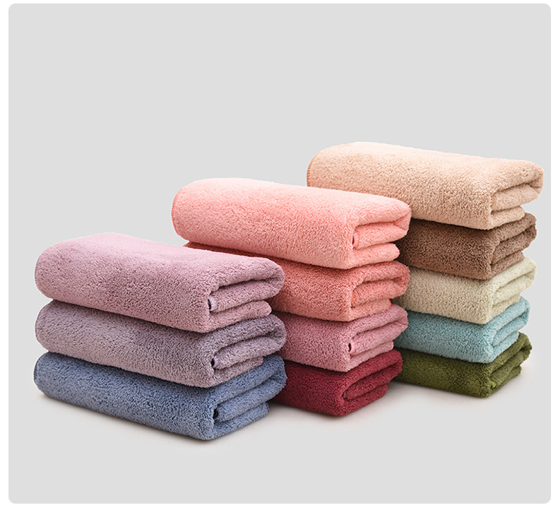 Image 3 - 12 Colors 2pcs Towel Microfiber Fabric Towel Set Plush Bath Face Hand Towel Quick Dry Towels for Adult kids bath Super Absorbent-in Towel Sets from Home & Garden