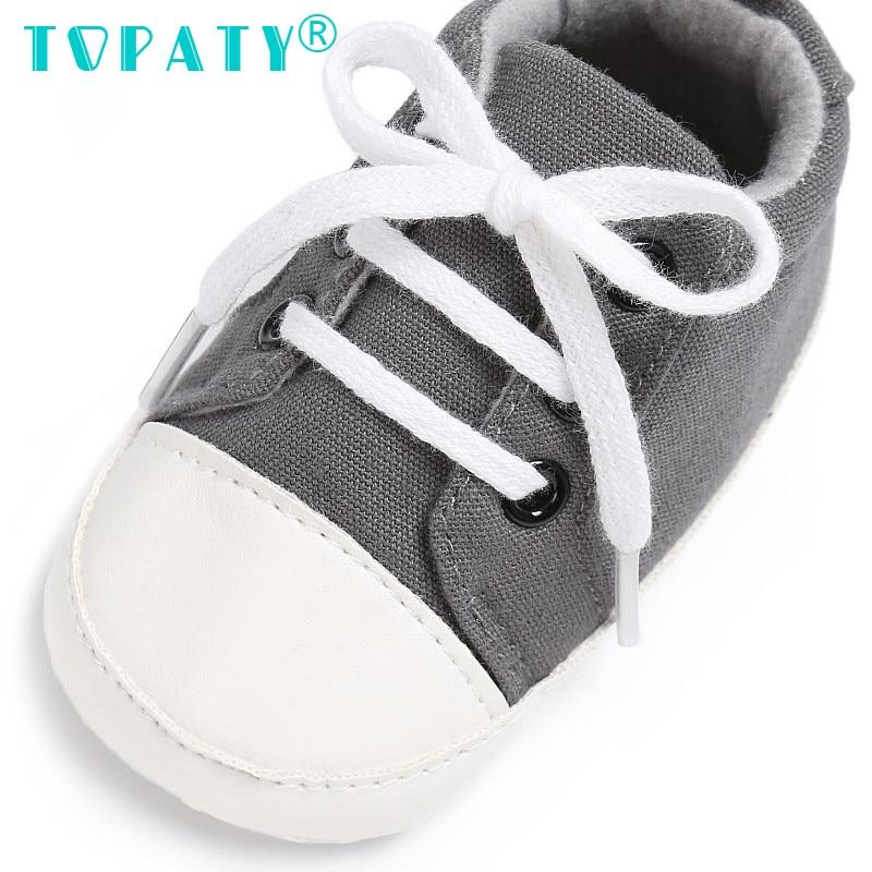 TOPATY 0-18M Baby Jongens Meisjes schoenen met veters aan de zijkant - Baby schoentjes - Foto 4