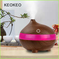 KEOKEO Air Humidifier 300ML USB Aroma Essential Oil Diffuser Humidifier Air Purifier 7 Color LED Mini Aroma Atomizer For Home