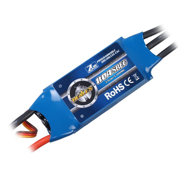 цена на ZTW Beatles 50A 60A 80A ESC Brushless Speed Controller For RC Airplane