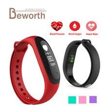 E26 font b Smart b font Bracelet Fitness Band Heart Rate Monitor Blood Pressure Blood Oxygen