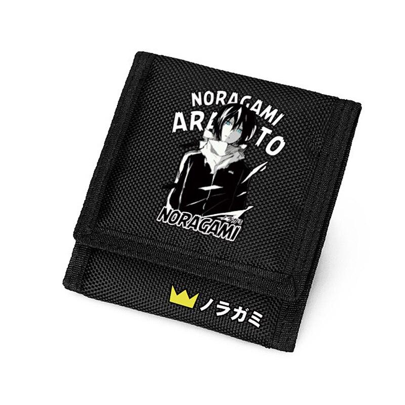 Anime Noragami Wallet for Boys Gifts Carteira Black Short Purse Men Women 2016 anime noragami character ebisu