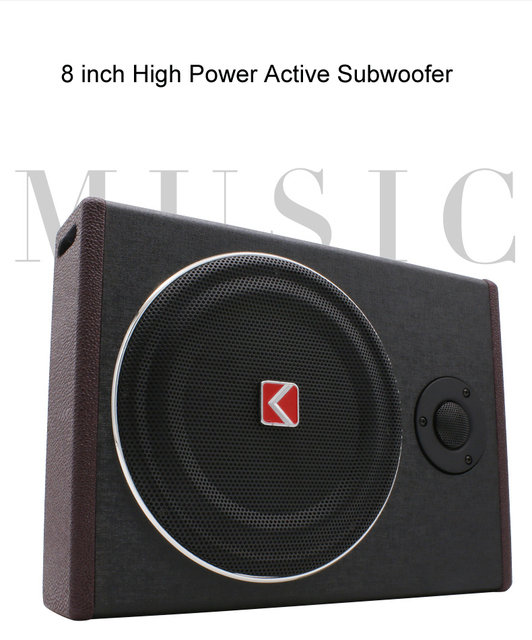 8 inch 600w under seat Subwoofer Super Bass Car Audio Speaker active Woofer Built-in Amplifier Car Audio Tweeter Loudspeaker
