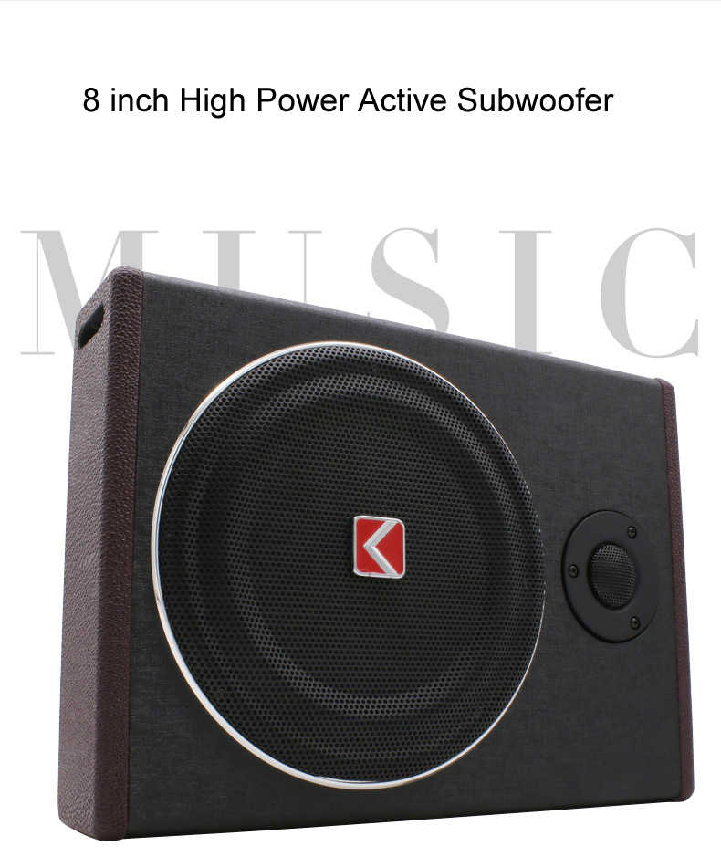 8 inch 600w under seat Subwoofer Super Bass Car Audio Speaker active Woofer Built-in Amplifier Car Audio Tweeter Loudspeaker