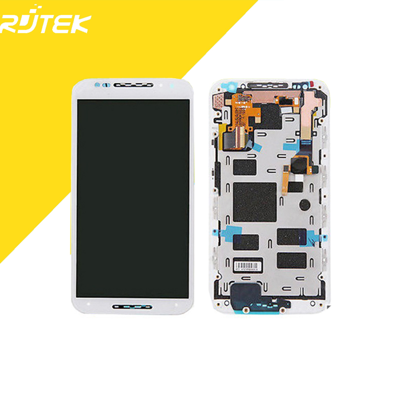 For Motorola Moto X+1 X2 XT1092 XT1095 XT1096 XT1097 LCD Display With Touch Digitizer Screen Glass Assembly White Replacement
