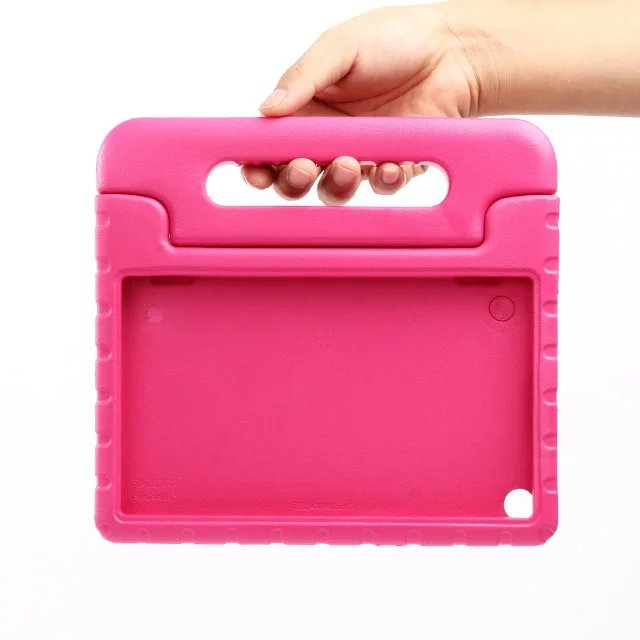 NEW! Fashion tablet shockproof case for Amazon New Kindle Fire HD 8 2016 child Hand - held stents EVA Silicone cover+Stylus