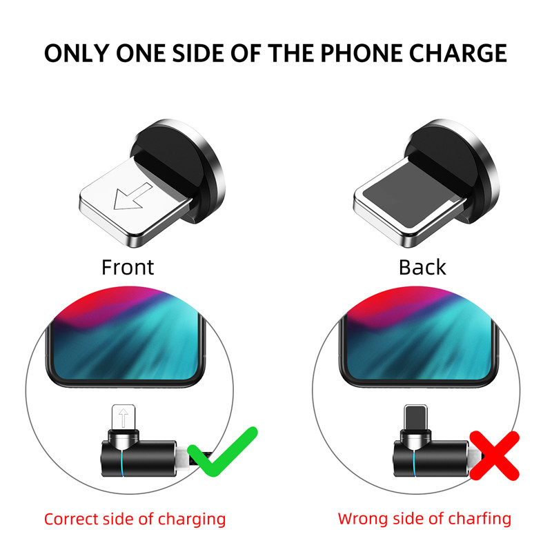 USLION 2m 3A Магнитный usb-кабель для быстрой зарядки для iPhone 11 Pro Android шнур для телефона type C кабель магнитное зарядное устройство Micro USB кабель