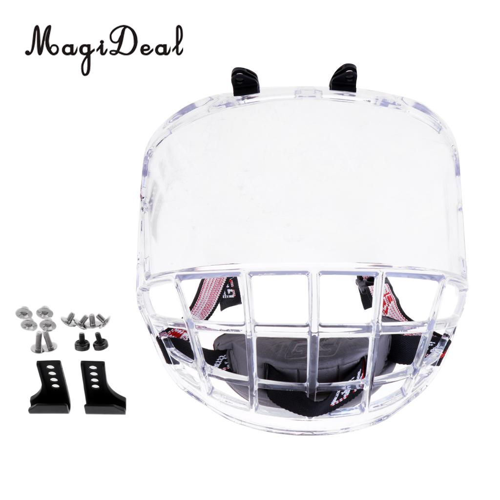 MagiDeal PC Anti Fog Anti Scratch Ice Hockey Helmet Full Face Shield Visor Replacement Team Sports Protective Gear Protection