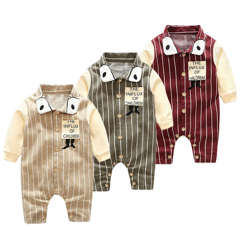 Baby Boys Tiny Cotton Rompers Infant Girls Autumn striped Romper New Kids&Children Jumpsuits Newborn Clothes cotton infant romper newborn overall kids striped fashion clothes autumn baby rompers boys girls long sleeves jumpsuit