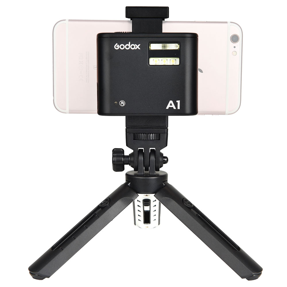 Godox A1 Flash With built-in 2.4G wireless X system+MT01 Mini Tripod+MTH Phone Holder Kit For IPHONE 7/7P/6S/6SP,etc
