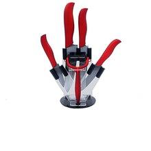 """Neue keramische messer 3 """"schäl 4"""" utility 5 """"schneiden 6"""" kochmesser und eine schwarze + rot schäler mit messerhalter küchenmesser set"""