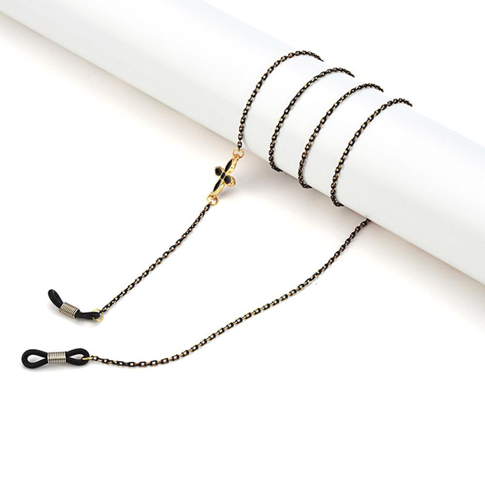 Cadena de gafas de Metal para hombre y mujer, cordón de anteojos con cuentas de flores, correa para gafas, retenedor, joyería, 1 ud., gran oferta