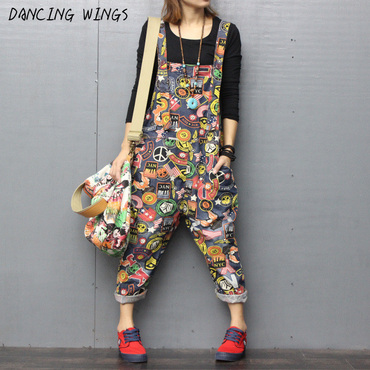 Fashion Jeans Women Jumpsuit Denim Romper Overalls Casual Long Trousers Harem Pants Basic Denim Pants Wide Leg Rompers Female