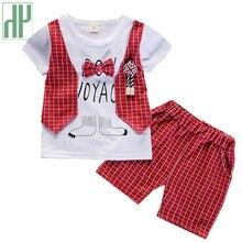 Children handsome clothing kids Tracksuits casual T-shirt with fake vest+ pant 2Pcs/set fashion Toddler Boys summer clothes sets все цены
