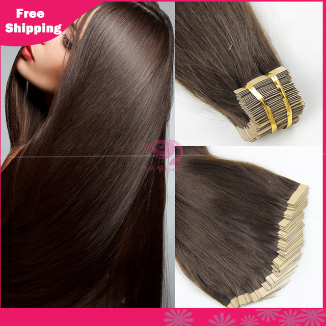 Indina Remy Human Tape Human Hair Extensions 40pcs 20inch 22inch