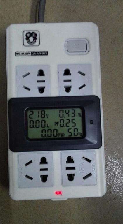 AC220V 20A Misuratore di tensione digitale Contatore di energia LCD - Strumenti di misura - Fotografia 6