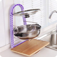 High quality Multi-layer Pot Storage Rack Kitchen Stainless Steel Pan Pot Rack,Kitchen AccessoriesFree shipping.
