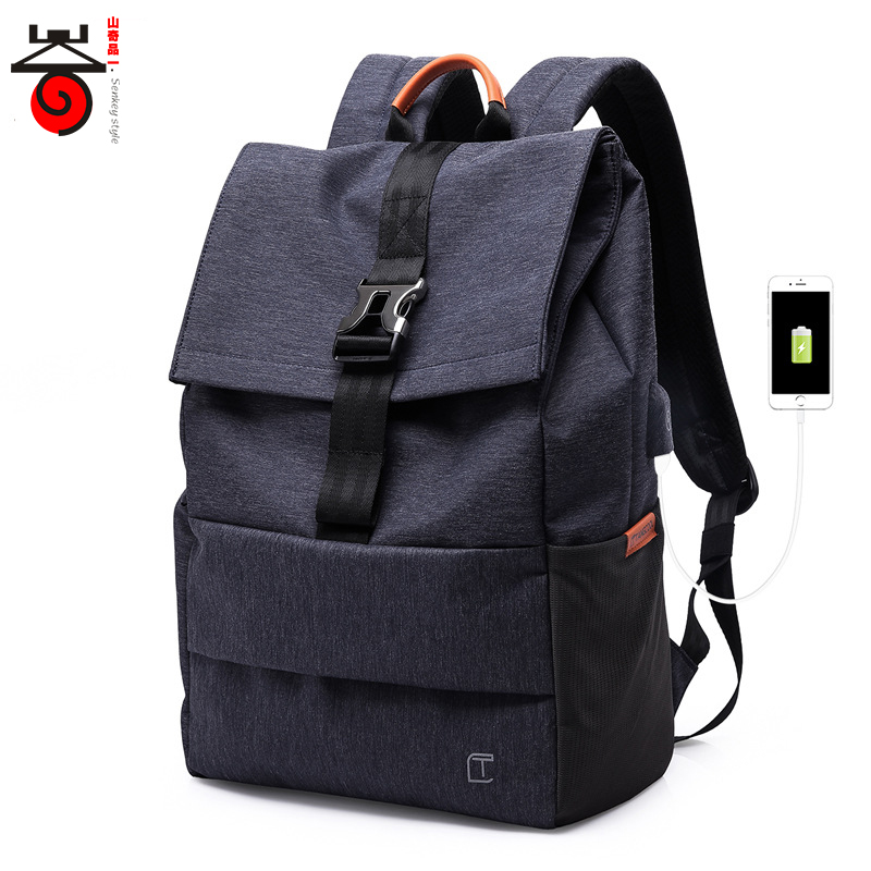 2018 Fashion Trend Large Capacity Backpack Male Luggage Shoulder Bag USB charging Men Laptop Backpack Casual Student School Bags ozuko multi functional men backpack waterproof usb charge computer backpacks 15inch laptop bag creative student school bags 2018