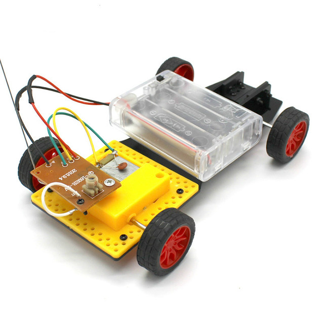 Diy Mini 4wd Remote Control Car Electric Motor Plastic Chis Educational Material Kits Small Production Boys Gift