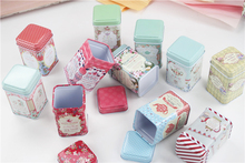 24pc/lot Vintage Flower Lipstick Box Small Tin Box Delicate Macaron Househld Contanier For Tea Pill Sundries ToothPick Box