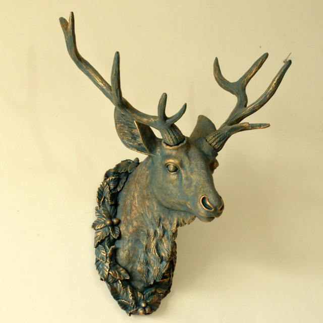 Outstanding Deer Head Wall Decoration Frieze   Wall Art Design .