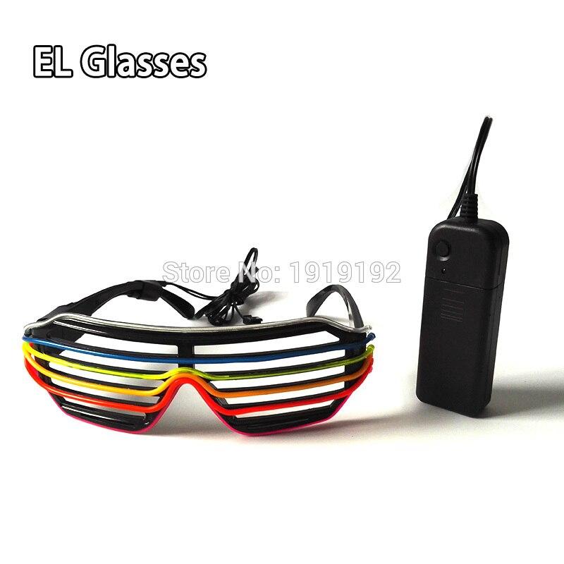 6 или 7 цветов мигающий EL светодиодный Очки световой вечерние Освещение Цвет ful светящиеся Классические игрушки для танцев DJ, вечерние маска ...