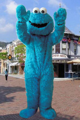 SESAME STREET COOKIE MONSTER ADULT MASCOT COSTUME SUIT & SESAME STREET COOKIE MONSTER ADULT MASCOT COSTUME SUIT-in Anime ...