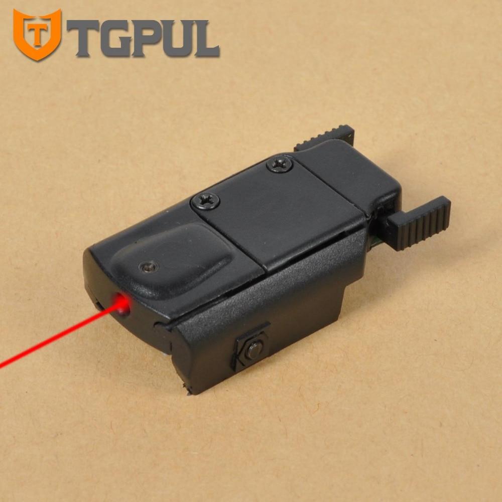 TGPUL Ultra-Mince Compact Airsoft Pistolet Laser Pointeur Glock 17 18C 19 22 Rouge Visée Laser En Plastique Profil Bas Rouge Dot pour La Chasse