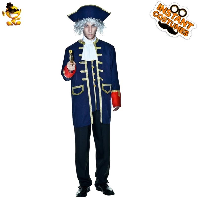 Adulte homme général Costumes dignité Duke puissant pistolet tueur général Roleplay vêtements pour carnaval fête Costumes