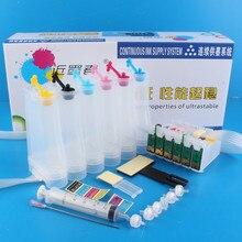 Универсальный 6 видов цветов Система непрерывной подачи чернил снпч комплект с полной аксессуары чернилами для Epson 1400 1430 P50 принтера