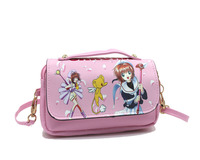NEW Arrival Anime Card Captor Sakura/Hatsune Miku/TouHou Colorful Pencil Case Bag/Double Zipper/Stationery Pouch/Students Bag