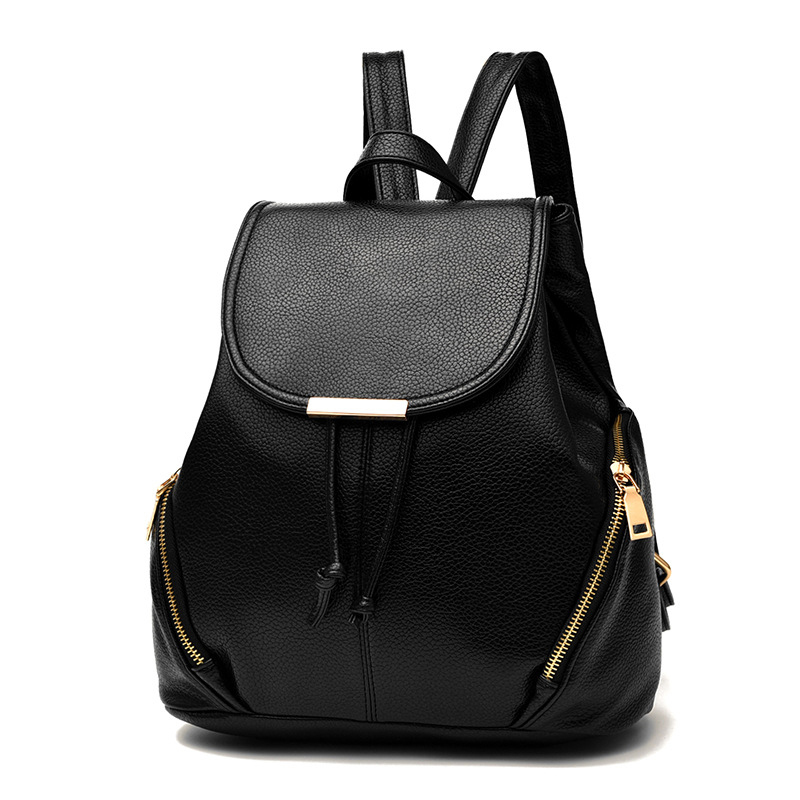 Women Free Shipping Backpack Women New Fashion Preppy Style Student PU Leather Backpack Solid Backpacks For Teenage Girls 8775 women backpack new fashion casual pu leather ladies feminine backpack candy color korea school style solid student mini backpack