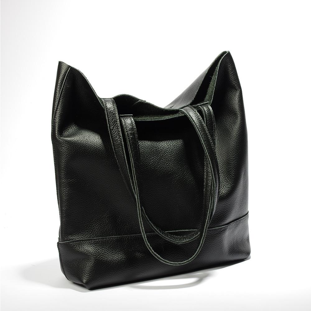 Guaranted 100 Genuine Leather Women Big Handbags Ladies Large Capacity Shoulder Bag Natural Leather Tote Bag